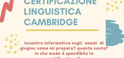 incontro a Feltre per la certificazione Cambridge